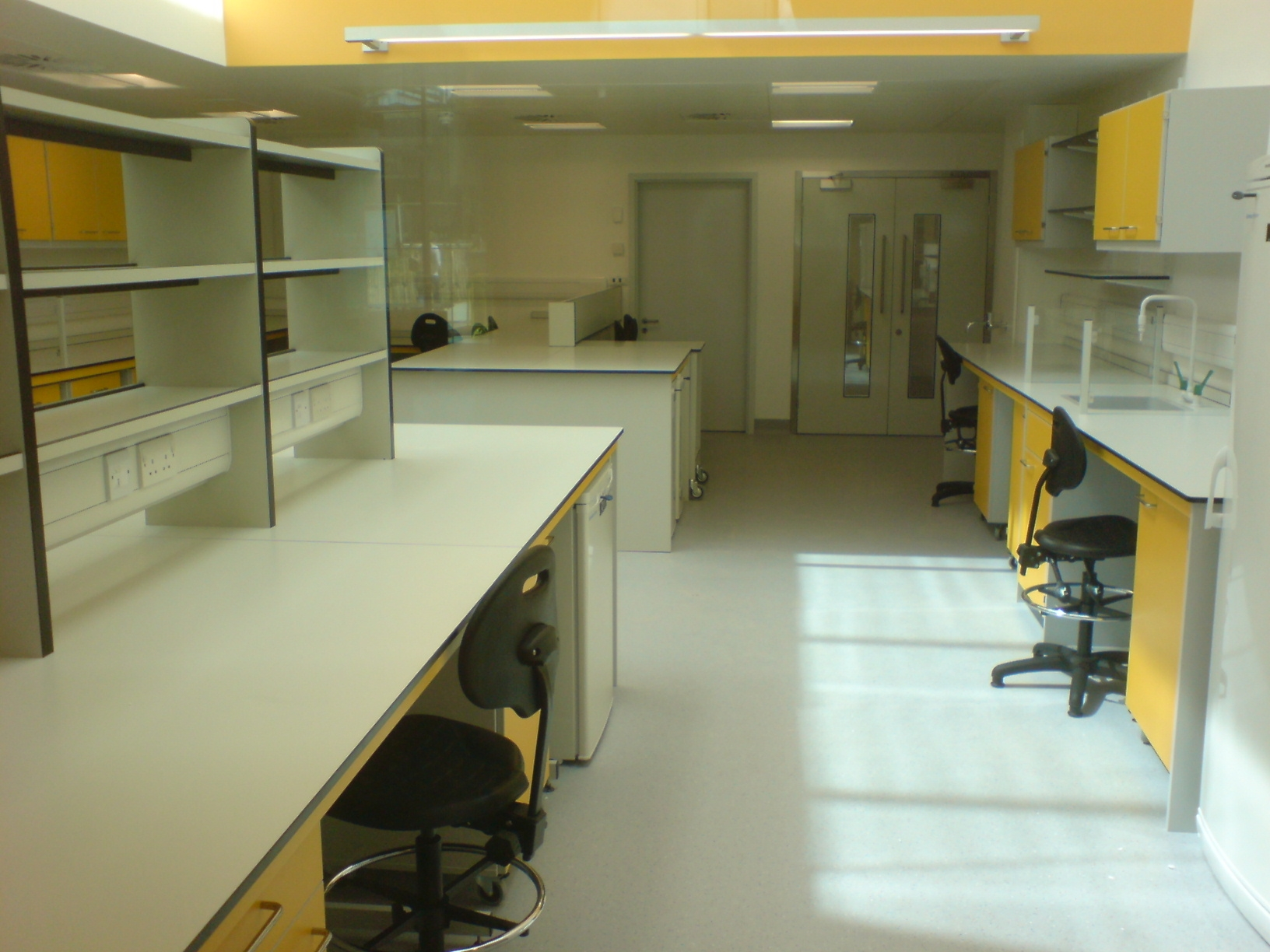 AJT Laboratory Furniture Design School Refurb Trespa Worktops