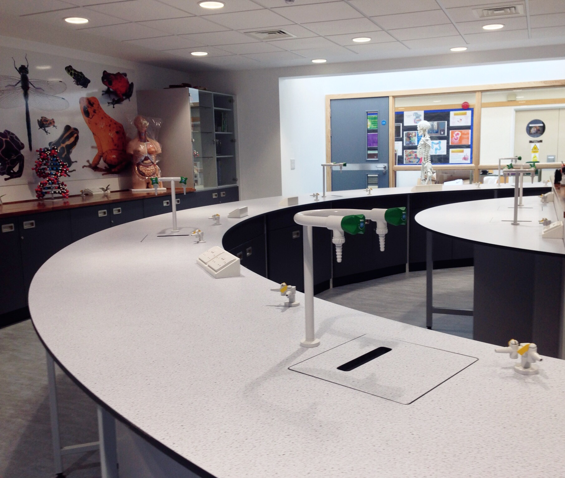 AJT Laboratory Furniture Design School Refurbishment Associated Joinery Techniques Trespa Worktops
