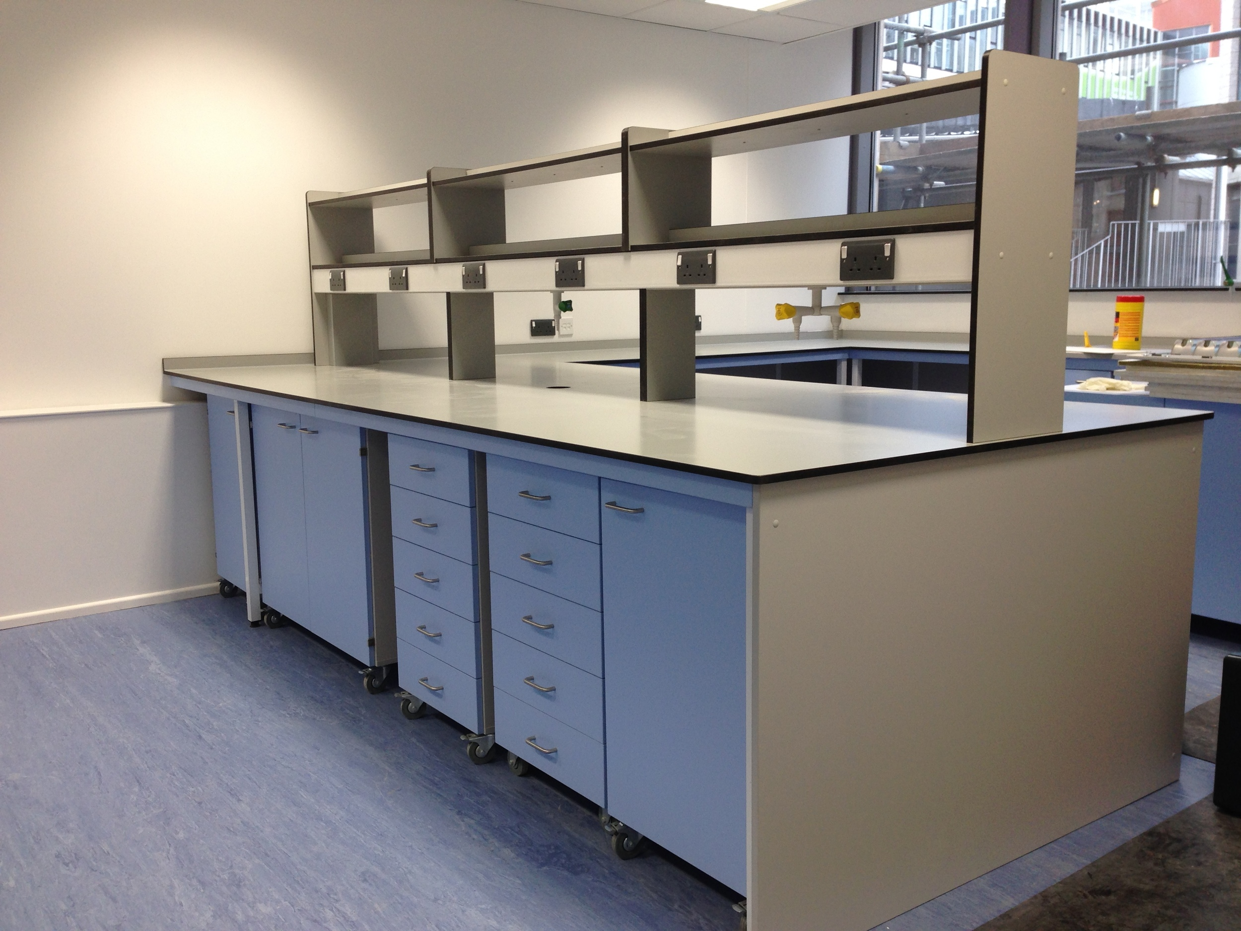 AJT Laboratory Furniture design trespa Toplab Sxchool Refurb School Furniture Associated Joinery Techniques