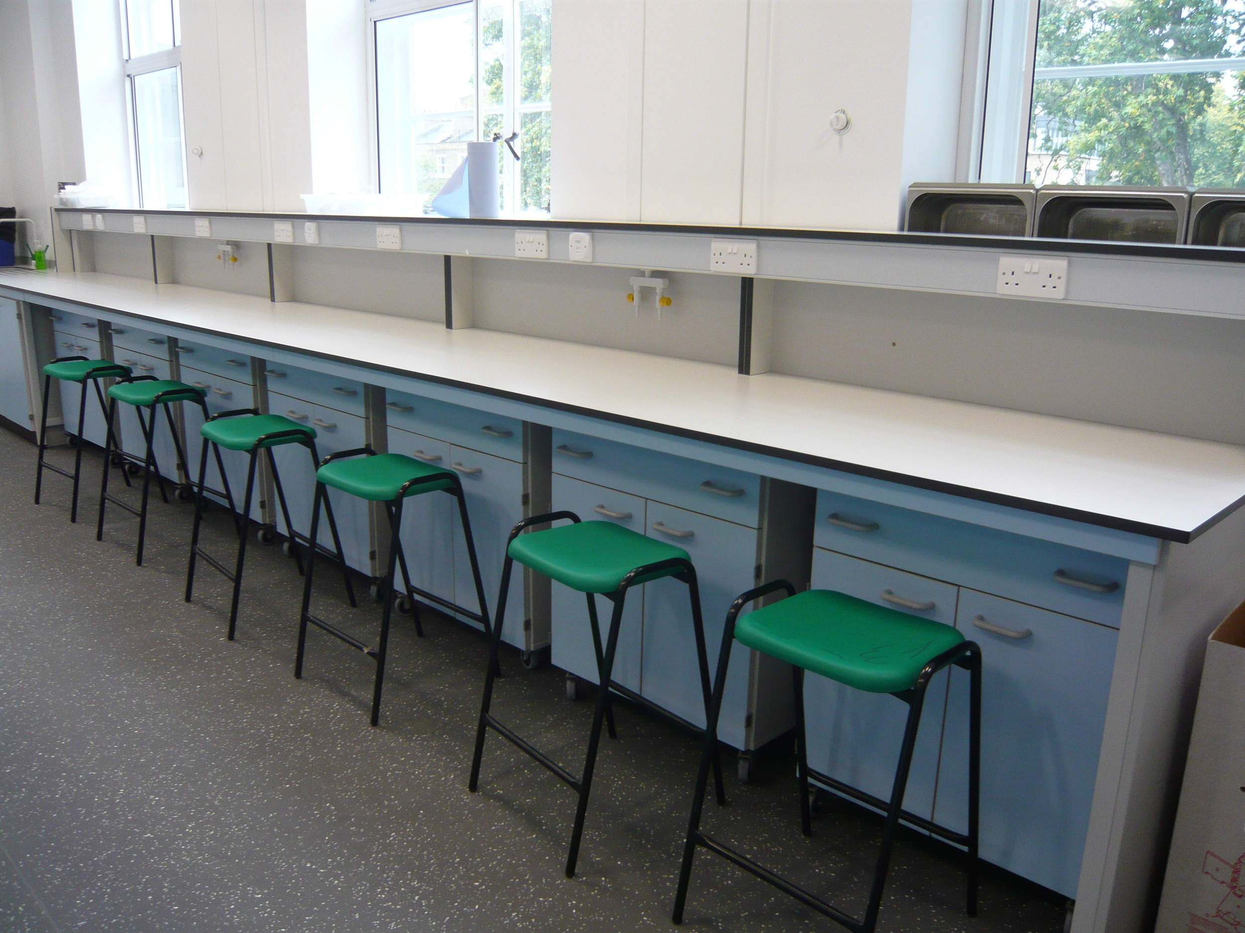 AJT Laboratory Furniture Design Trespa Toplab School Furniture School refurb Associated Joinery Techniques