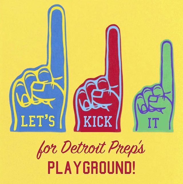 Were you on the fence about signing up for our Kickball Tournament? Ready to sign up but just keep forgetting to register? Deadline to register is Tuesday night at midnight, so head to the link in our bio RIGHT NOW! It's going to be a lot of fun and will get us one giant step closer to getting a new playground for hundreds of Detroit students. ♥️ P.S. Have any questions? Send us a DM or email heather@detroitprep.org!