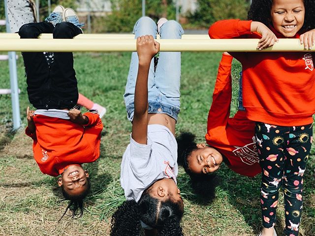 We are so grateful to be using this small monkey bar structure for recess, but are SO excited to have a full-sized playground that will fit our growing community for years to come. Head to the link in our bio to learn more about our playground fundraiser and why we believe it's so important for our students and neighbors. Please consider donating - every little bit helps! ♥️