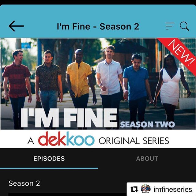 If you've ever wanted to see me in a gay fantasy sex scene, here's your chance! Season 2 of the hilarious dark comedy @imfineseries is out from the talented @bkkirby12 . Info below! Will be out on Amazon Prime shortly as well. I'm in ep. 6 😜 ・・・ I'M FINE season 2 has arrived on @mydekkoo!! All episodes available now — link in bio💙
