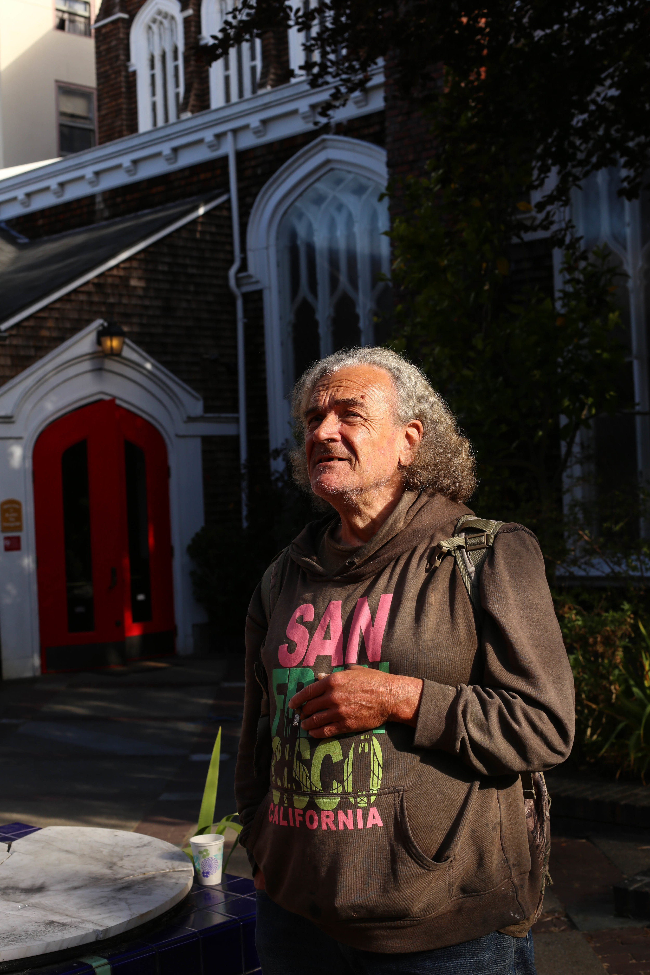 Richard Bandoli, originally from Illinois, arrived in SF in 1978 and has been attending the Gubbio Project for a couple of months.