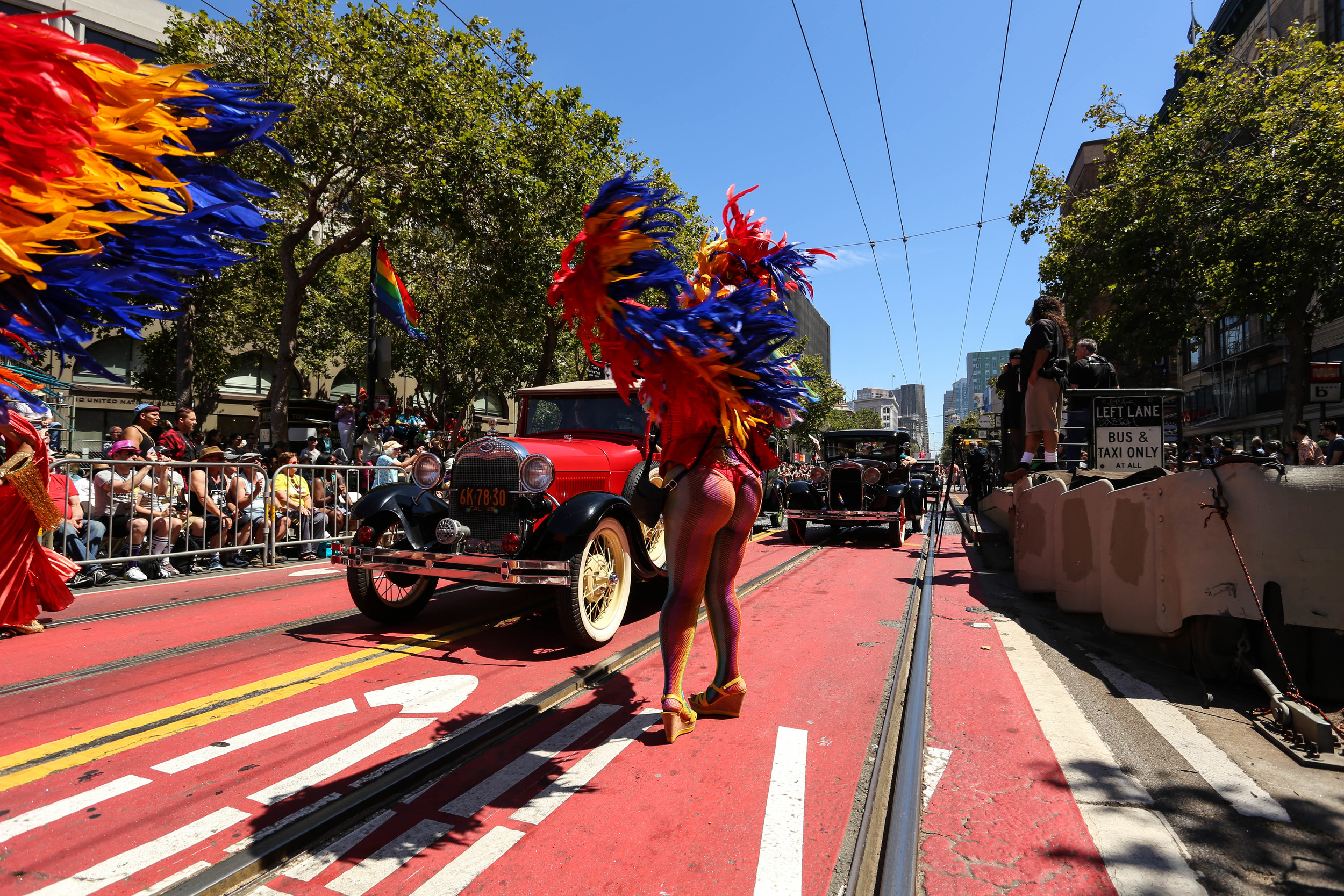 Paraders bare all at the San Francisco Pride on Sunday, June 26, 2016.