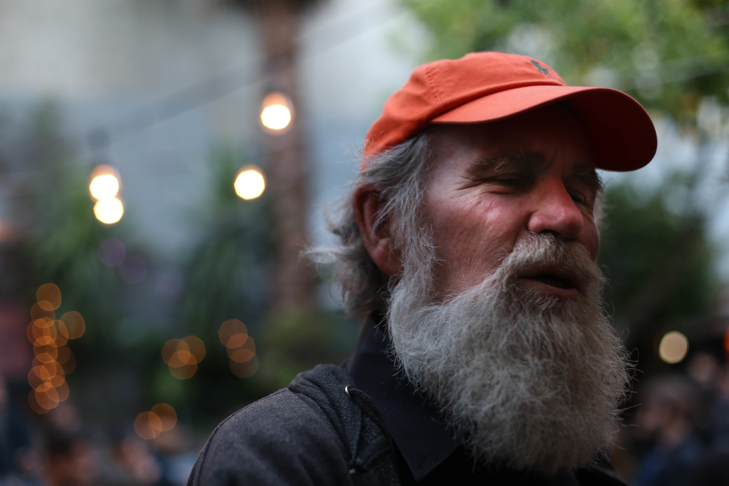 Terry Milne, has lived in Bernal Heights since 1970 came to the event to support the community and the businesses he frequented. San Francisco, California Thursday, June 30, 2016