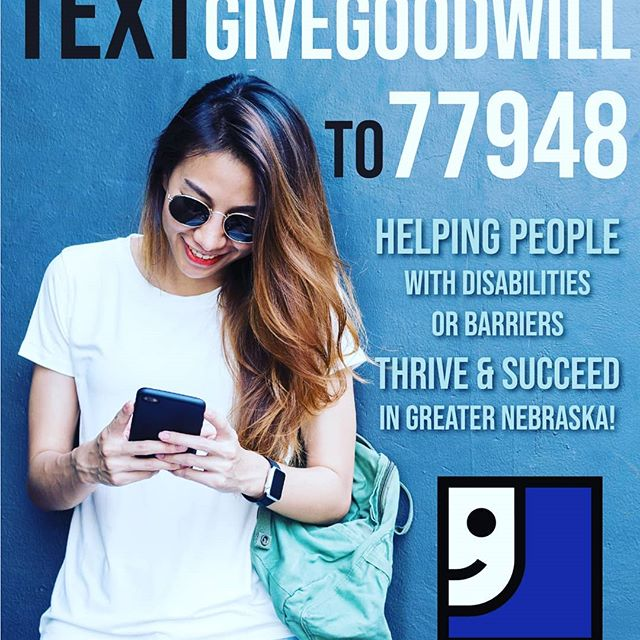 We're working with GoodWill of NE #nebraska to give back to the community this holiday season. Will you help those less fortunate? Text GIVEGOODWILL to 77948 to donate today. #texttodonate #texttogive #northeastnebraska