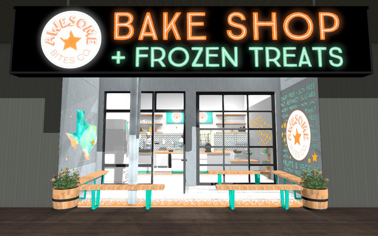 Rendering of our upcoming storefront.