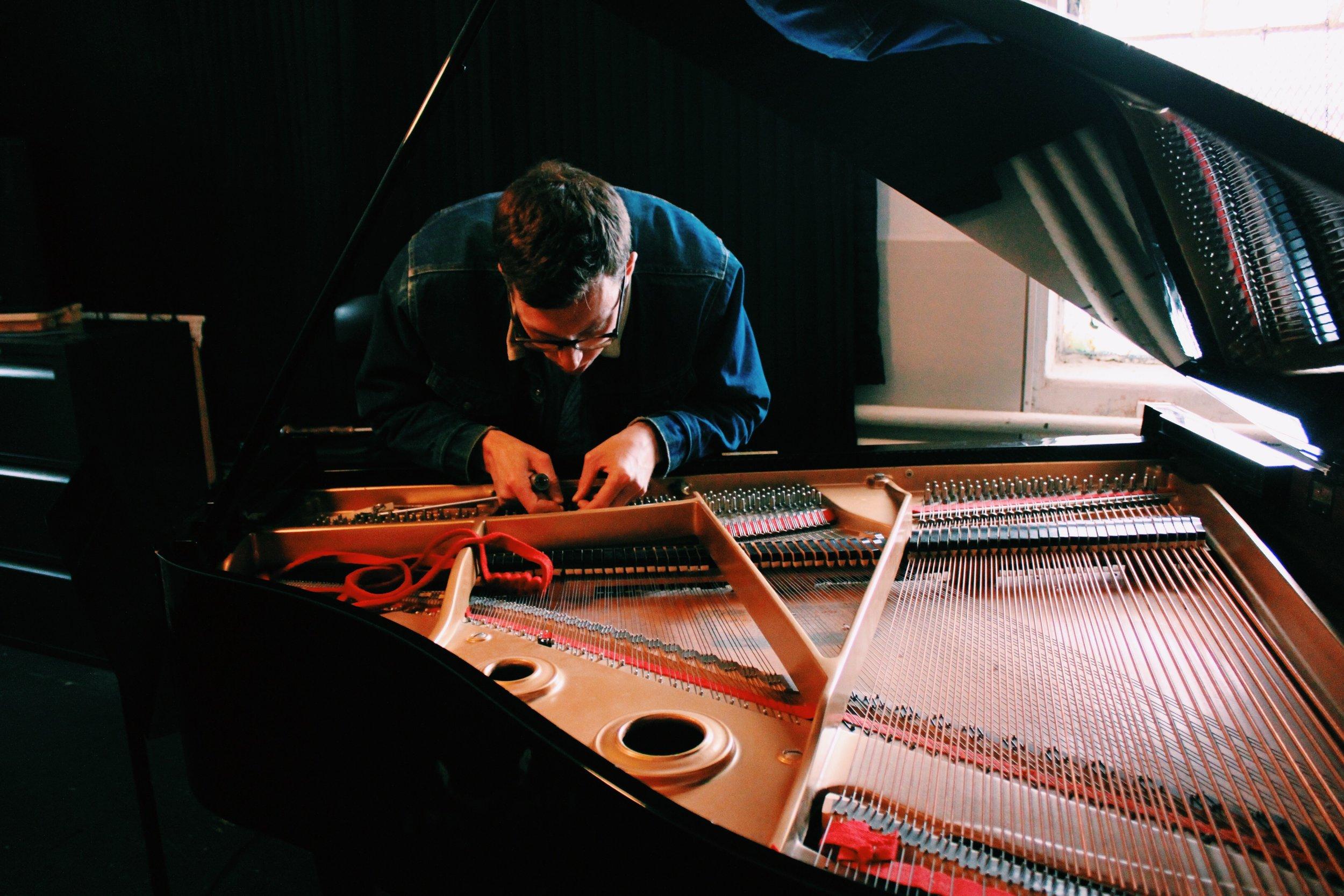 Changing a string for Bushwick New Music Group  Ensemble Mise-En