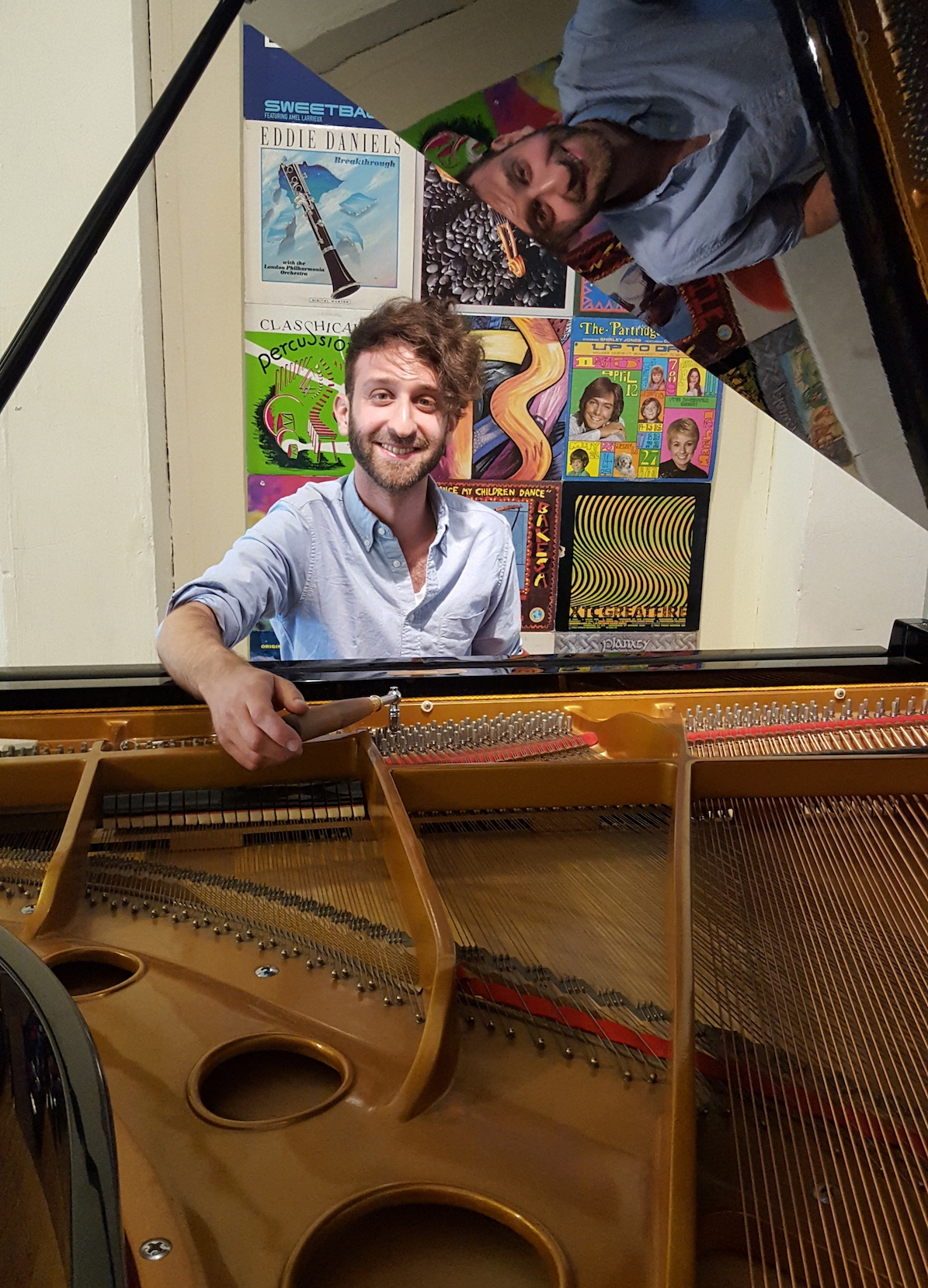 Dave Mainella Tuning a Piano at Brooklyn Music School