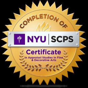 New York University Program in Appraisal Studies in Fine and Decorative Arts Certificate