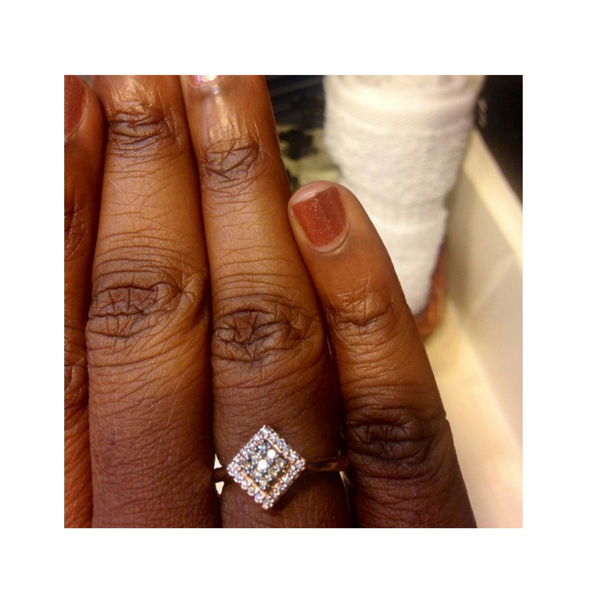 14k Rose Gold Ring w/ Chocolate & White Diamonds - St. Thomas U.S.V.I