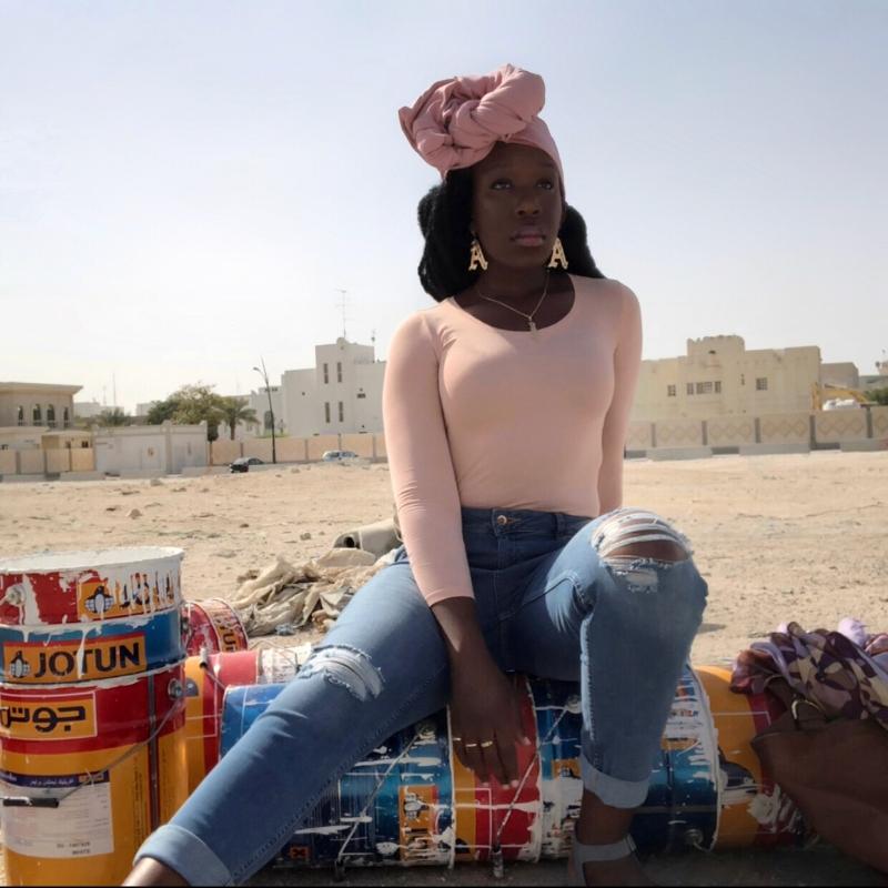 Queen Adwoa's Closet Qatar pink modest styling 2.JPG