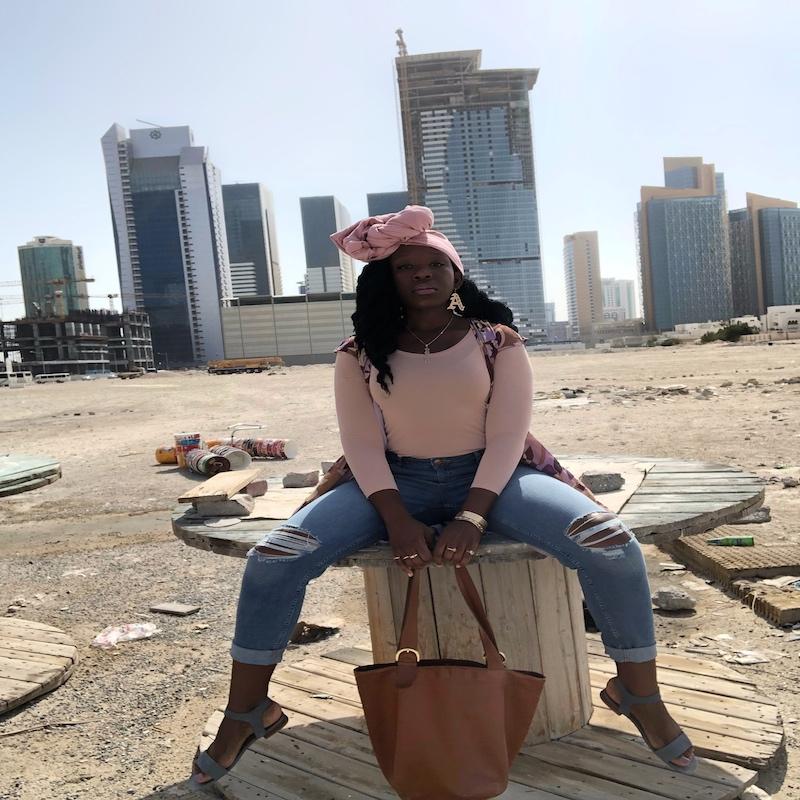 Queen Adwoa's Closet Qatar pink modest styling 4.JPG