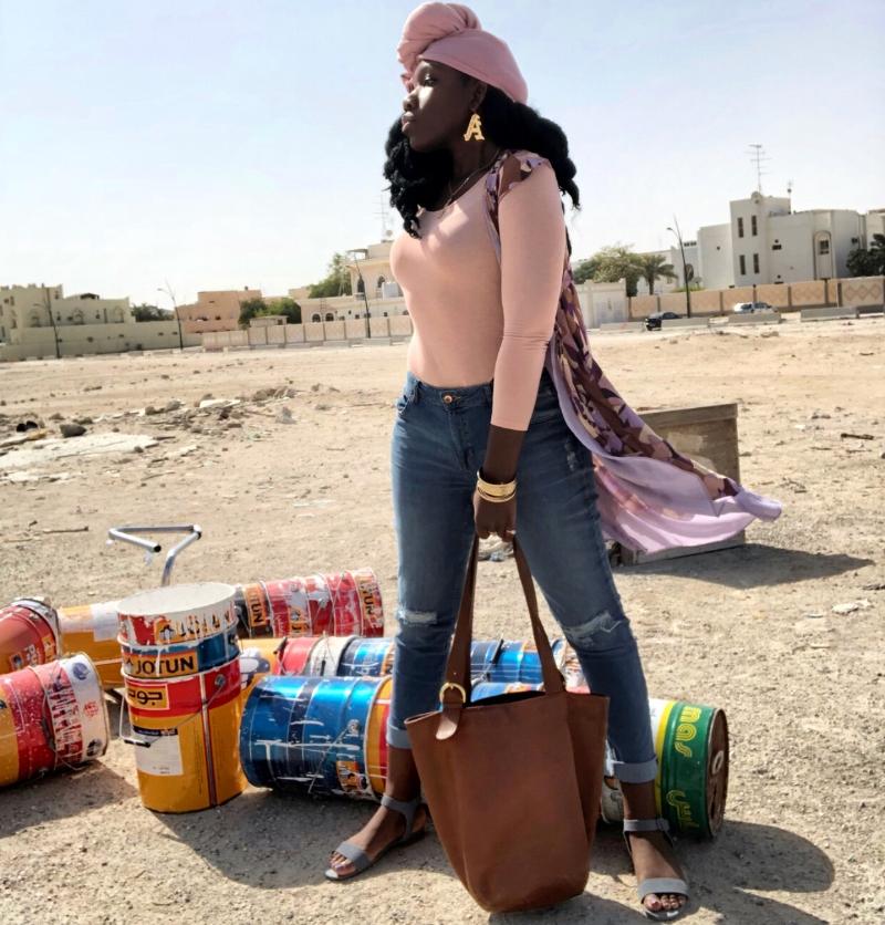 Queen Adwoa's Closet Qatar pink modest styling 3.JPG