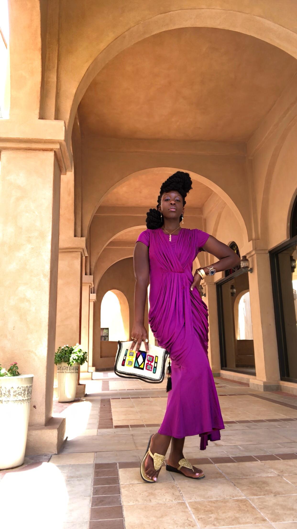 Queen Adwoa's Closet Vintage Sari Dress India
