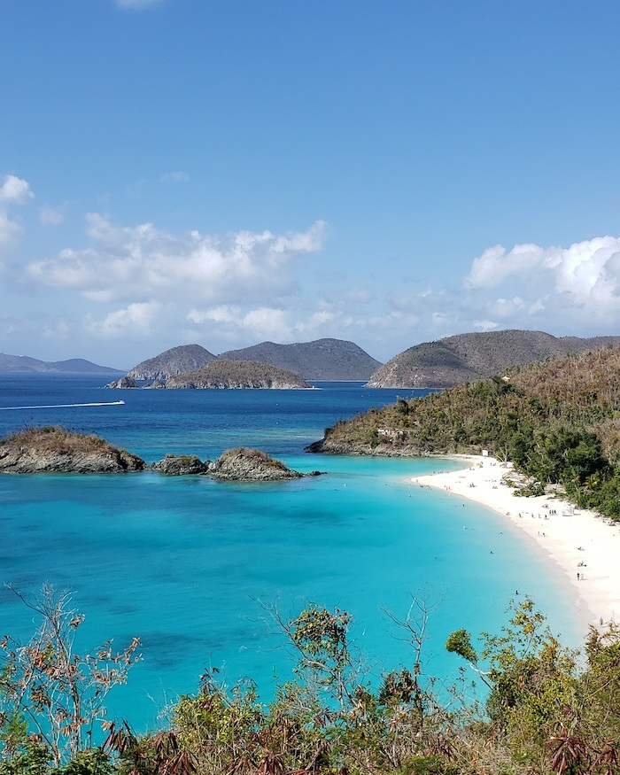 Trunk Bay St. John displaying the close proximity to Tortola, British Virgin Islands