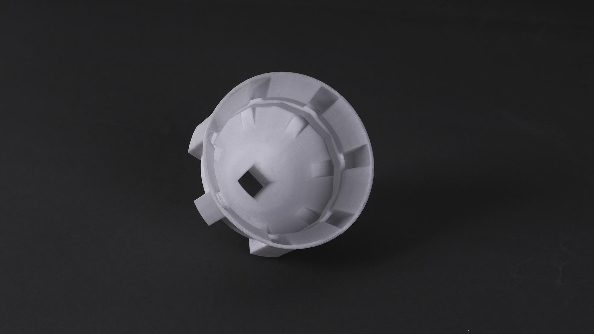 Oil filter 3D printed by Mankati E 180 3D printer & mPC-S filament - 2