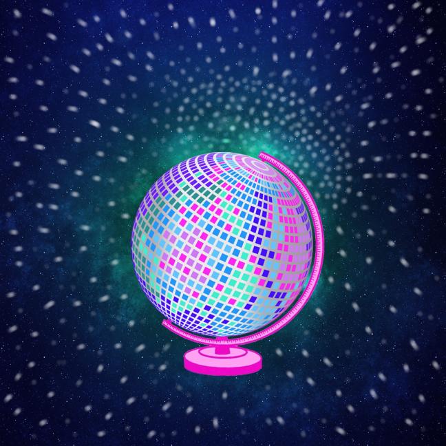 Disco Globe by Rosie Pi