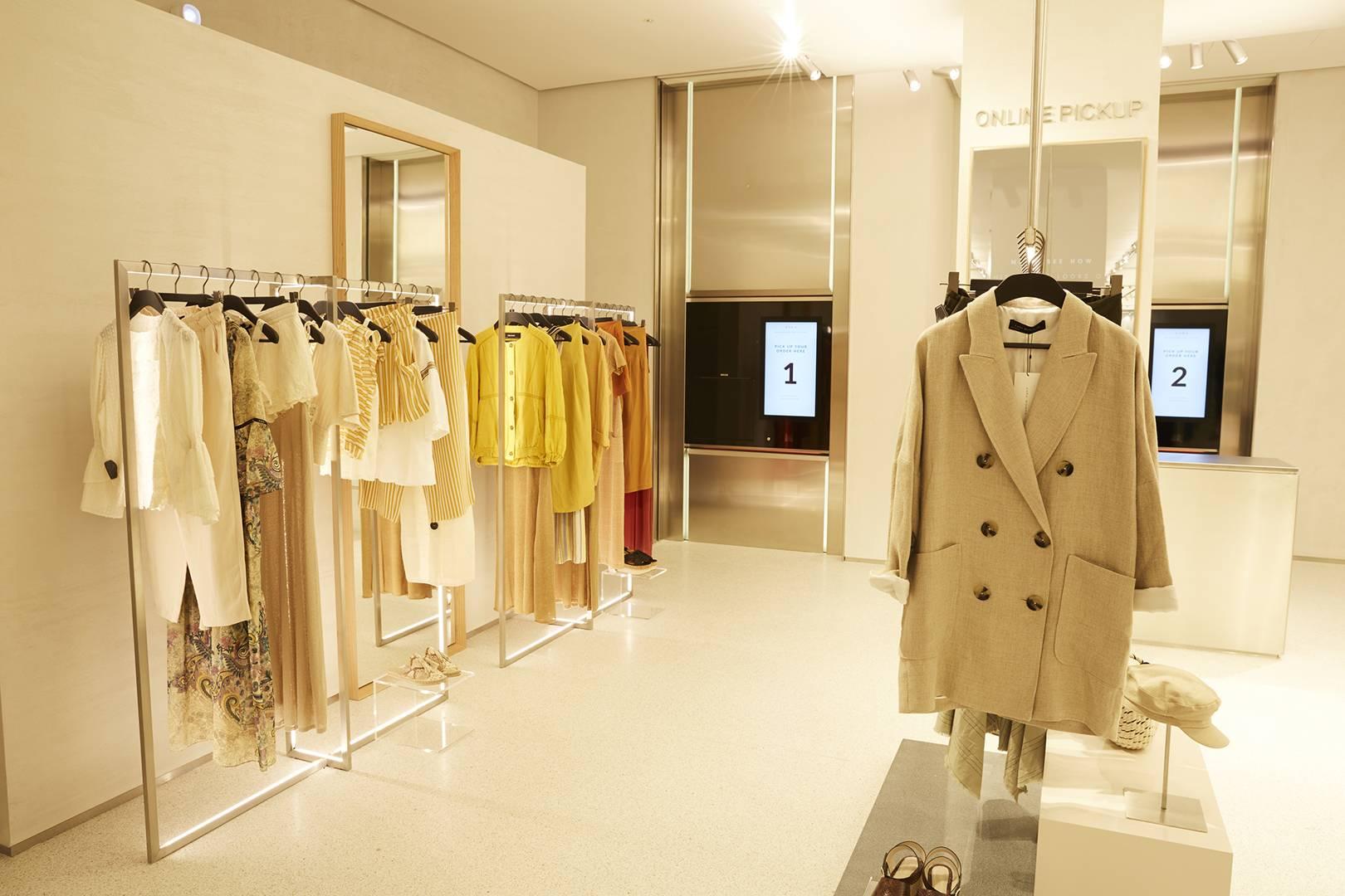 Zara a intégré des innovations technologiques dans son magasin phare de Stratford