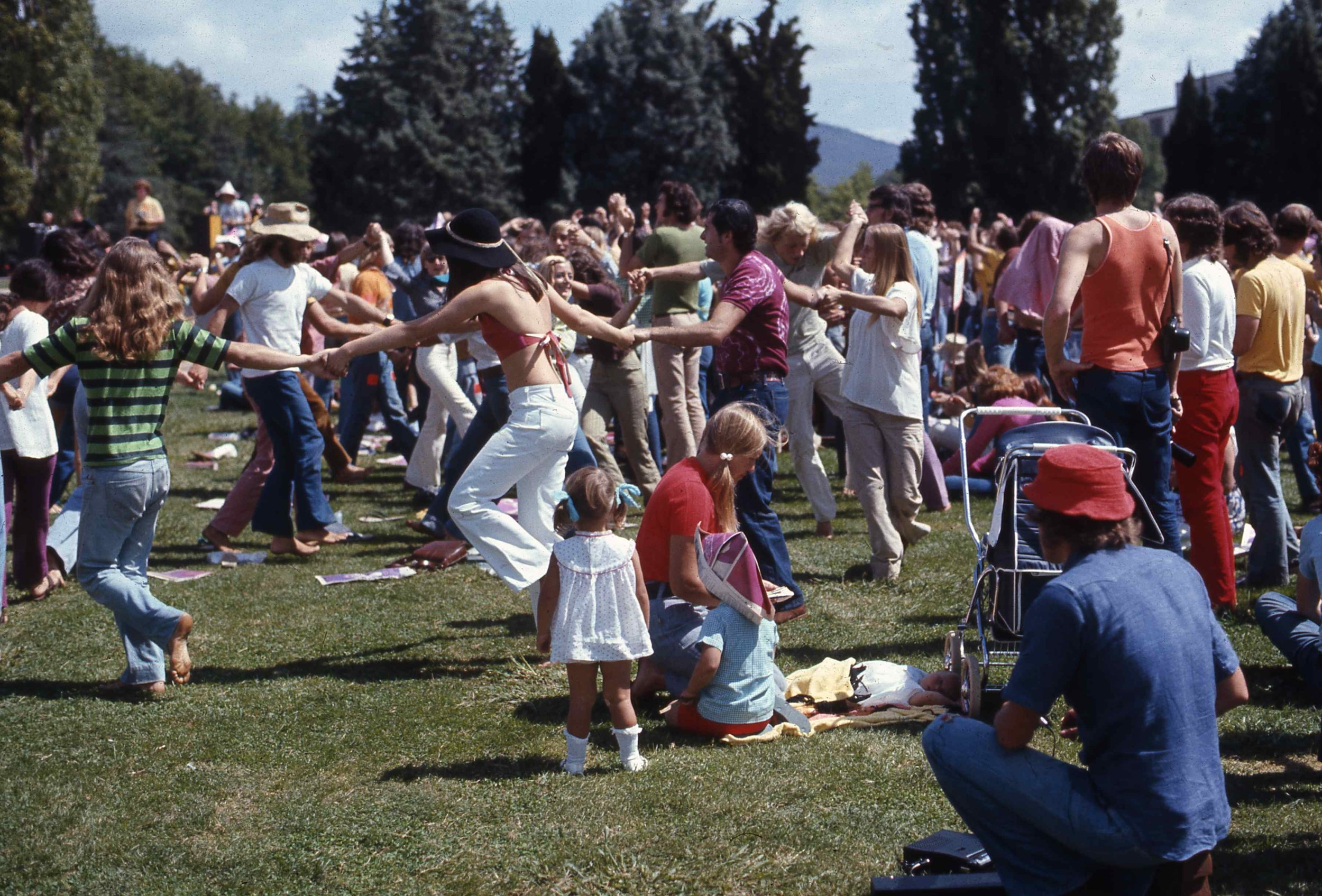 Truth and Liberation Concern community picnic in the 70s
