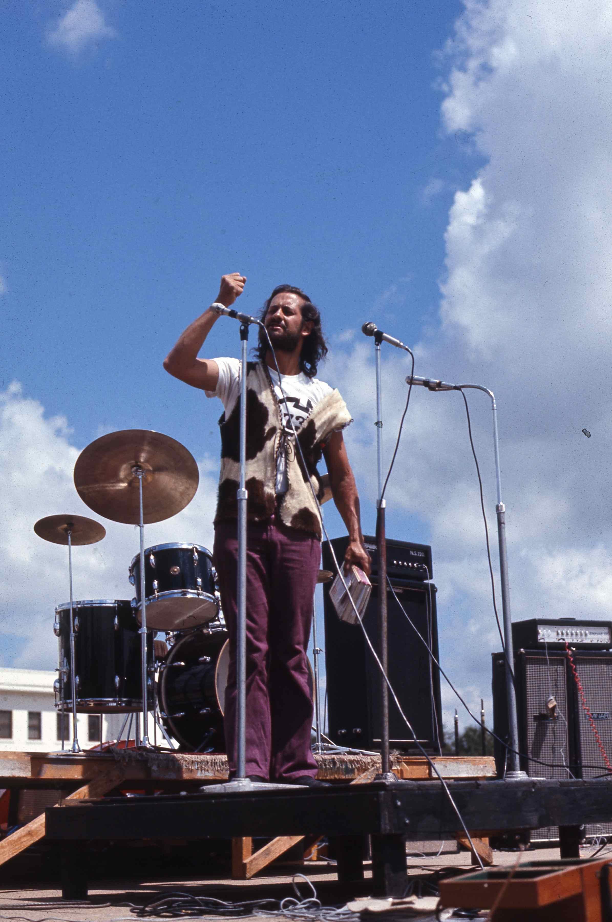 John Smith at a Parliament House rally 1973