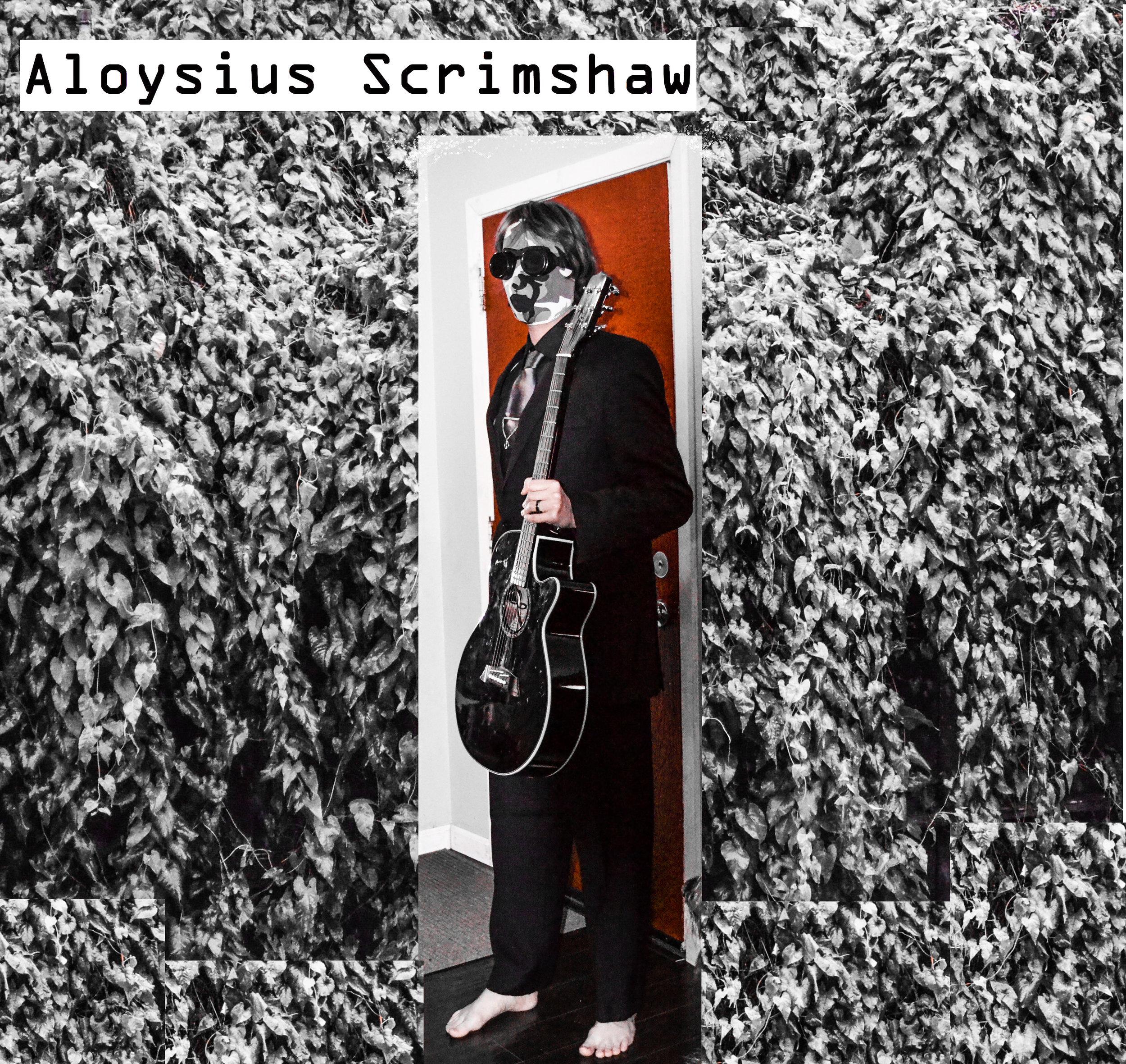 Aloysius Scrimshaw with guitar