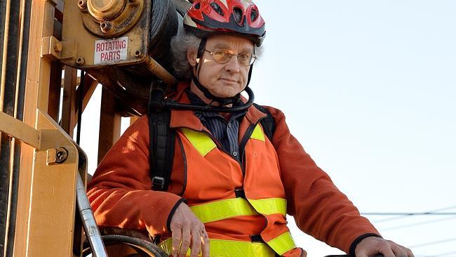 Tony Murphy and his bike lock