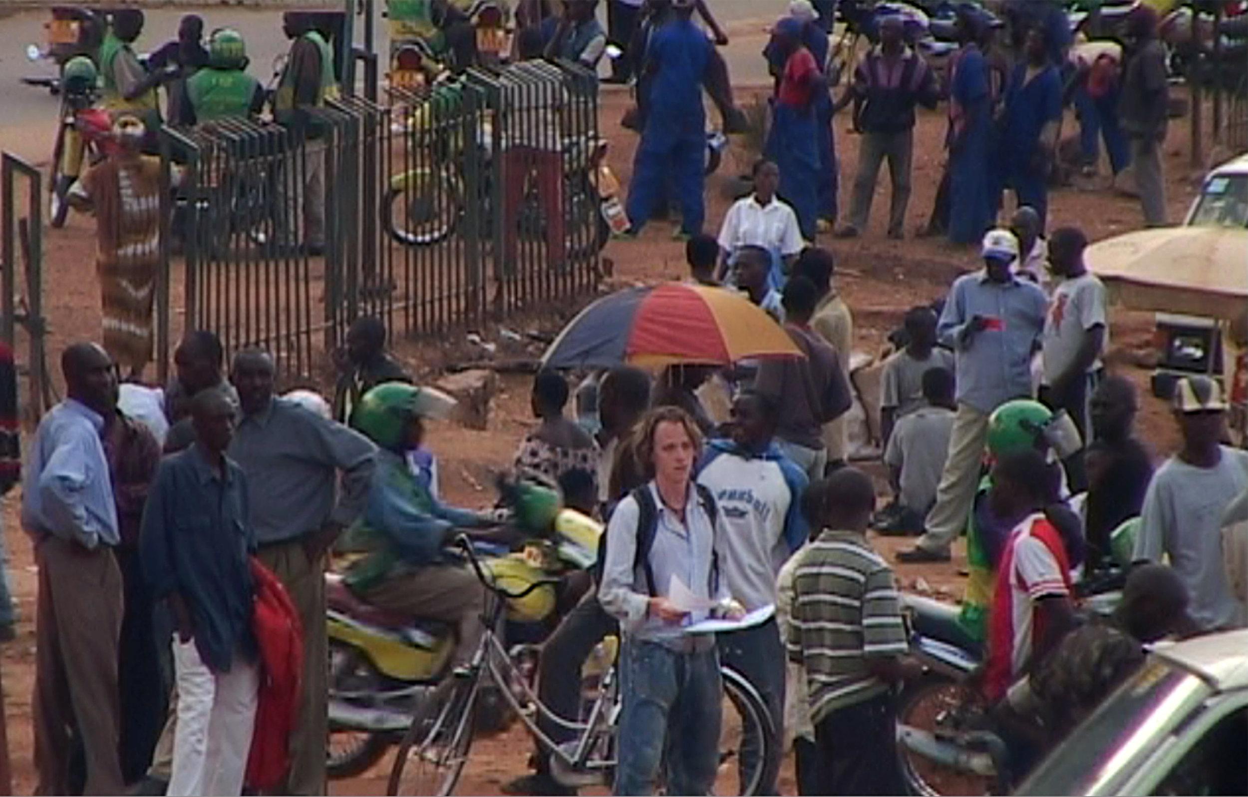 Sven Pannell at a loss in Rwanda