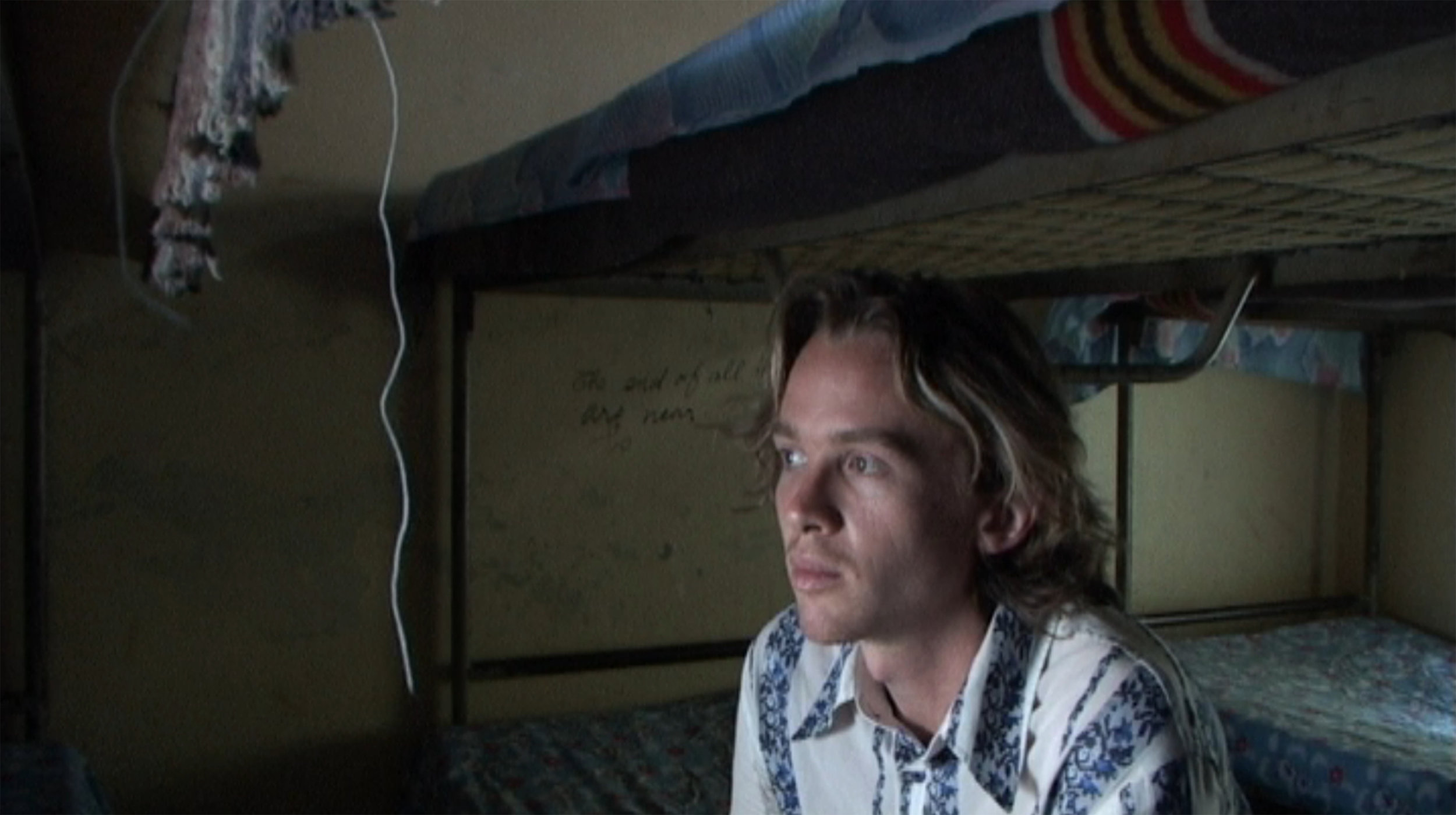 Sven Pannell in the shelter in Rwanda