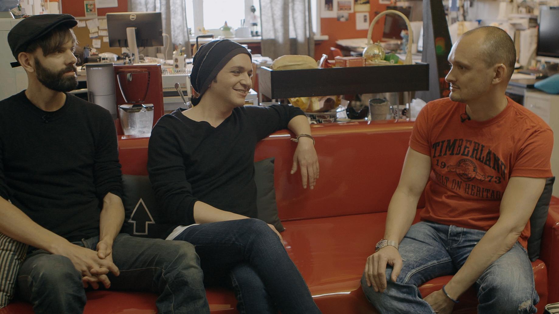 Stefan Olsdal and Brian Molko interview Fedor Bukhtoyarov