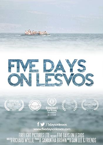 Documentary film, 5 Days on Lesvos poster.