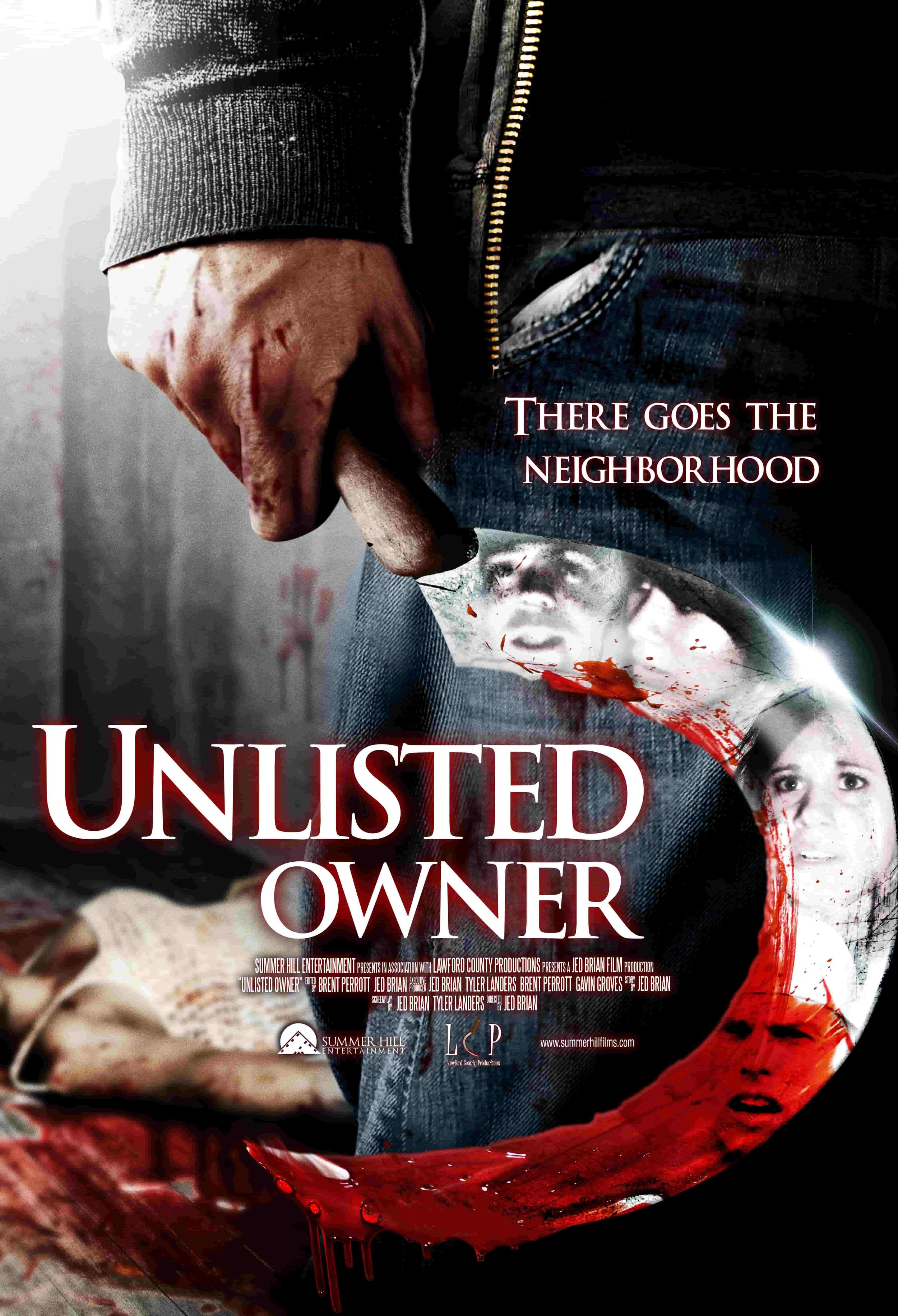 Unlisted Owner poster horror Jed Brian