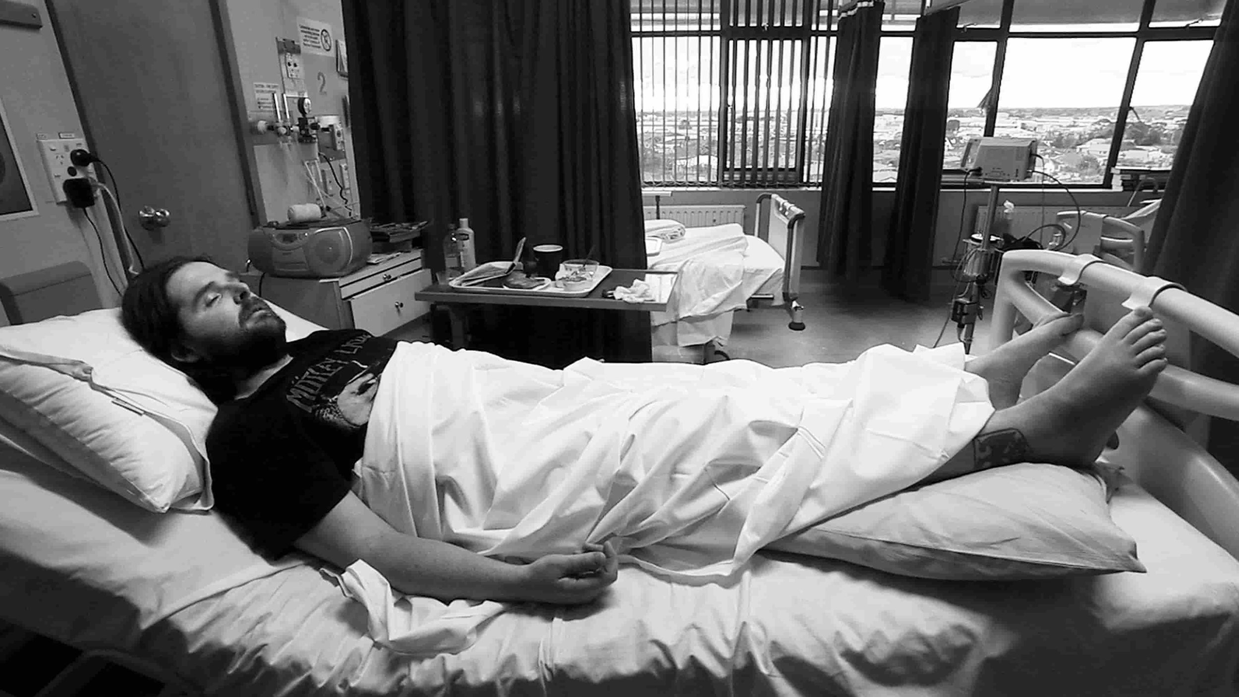 Booga in hospital indie documentary Swagger of Thieves