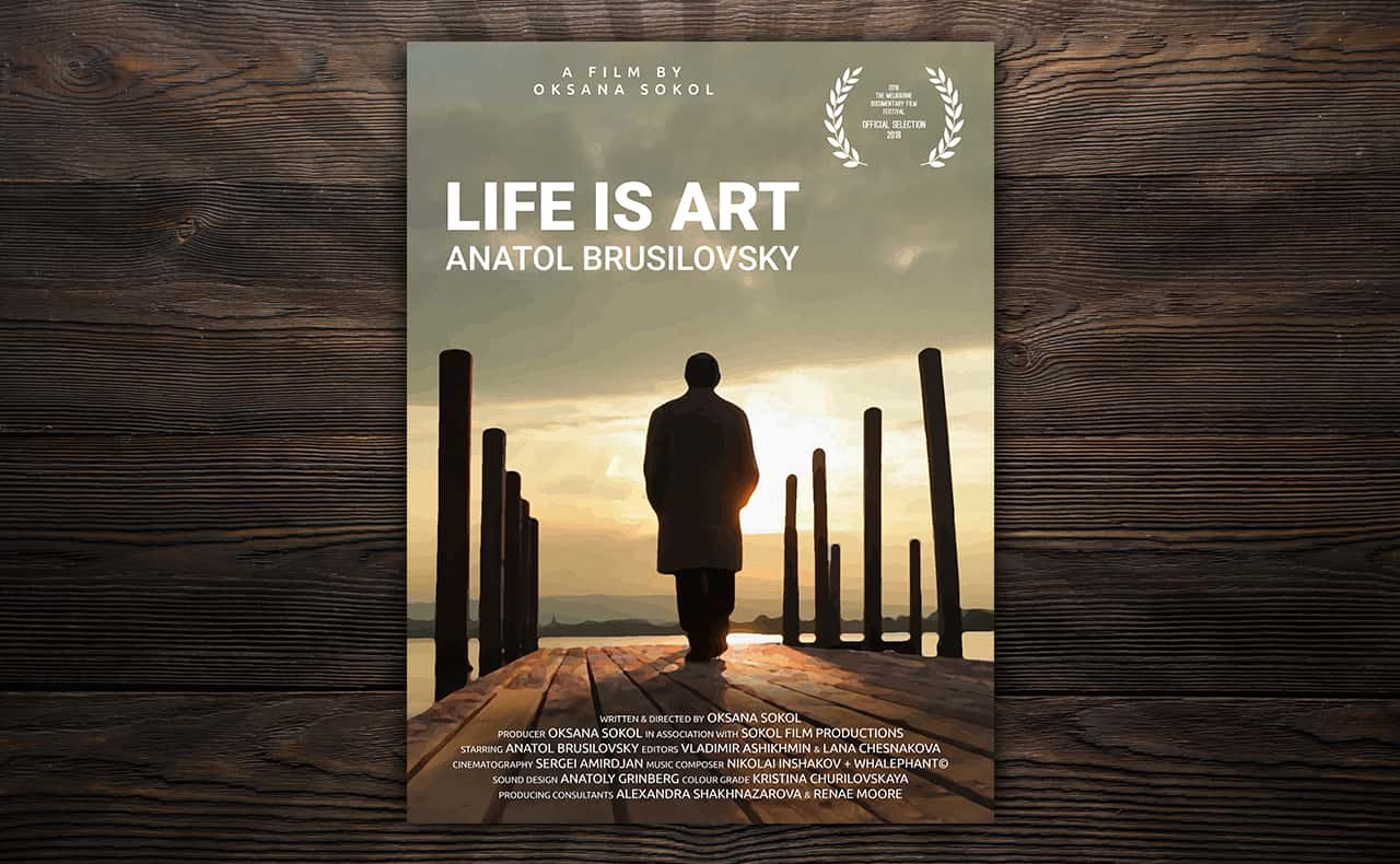Poster for Life is Art indie documentary