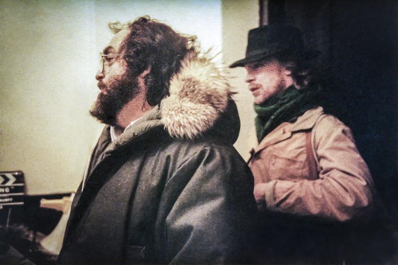 Stanley Kubrick and Leon Vitali. Photo courtesy Leon Vitali.