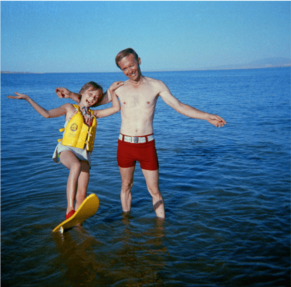 Indie true crime documentary Abducted in Plain Sight. Jan and Berchtold waterskiing 1973.png