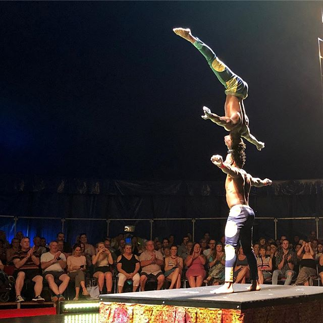 Mad skills from the circus folk at @cirqueafrica  High energy, joyous circus. I didn't know the human body could do some of this stuff! Check out the woman in the bottom right of the picture - she was scared witless in every act and didn't hide it at all. Very entertaining.  Thanks for a fantastic show Cirque Africa!