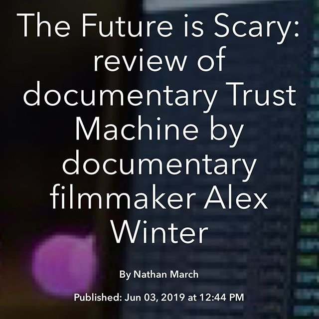 New blog post.  Follow the flow of power back and forth across the ocean of the web.  Review of Trust Machine: The Story of Bitcoin.