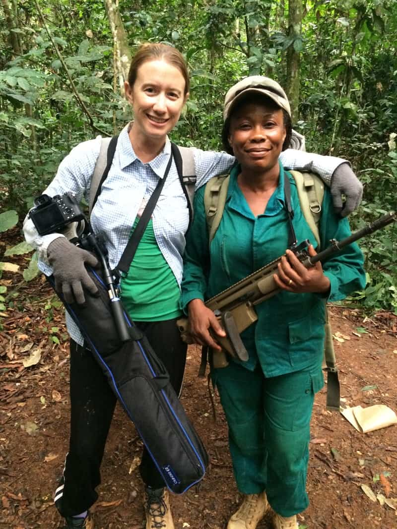 Director Mariah Wilson and eco guard Sidonie Asseme in the indie documentary Silent Forests.jpeg