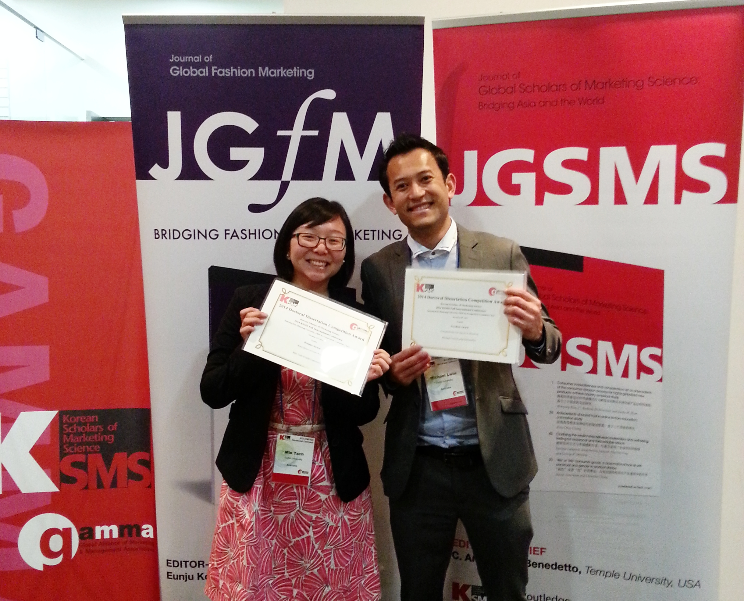 Dr. Min Teah and Dr. Michael Lwin win award at KSMS Conference 2014