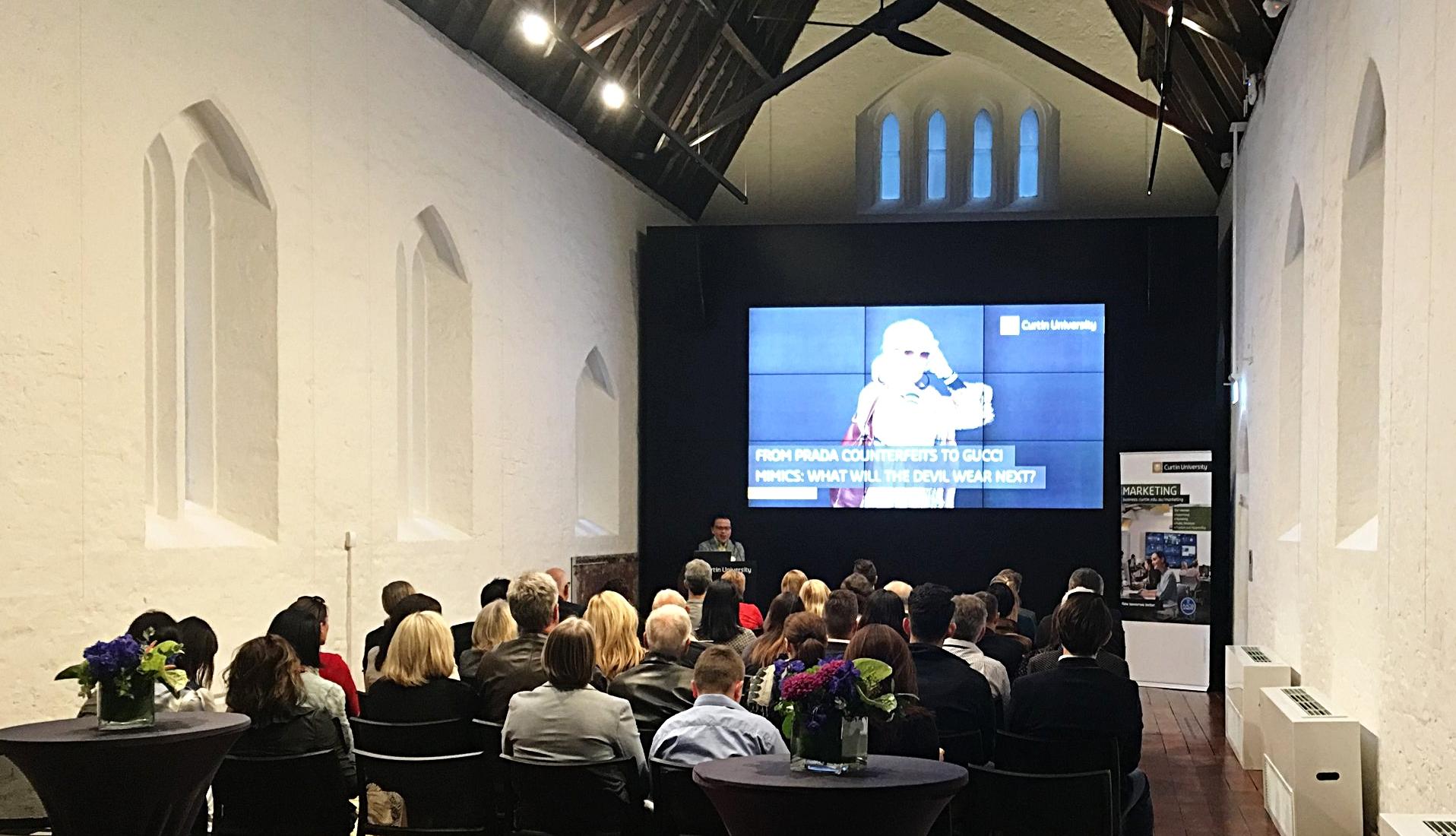 Prof. Ian Phau addresses Prada Alumni in Perth
