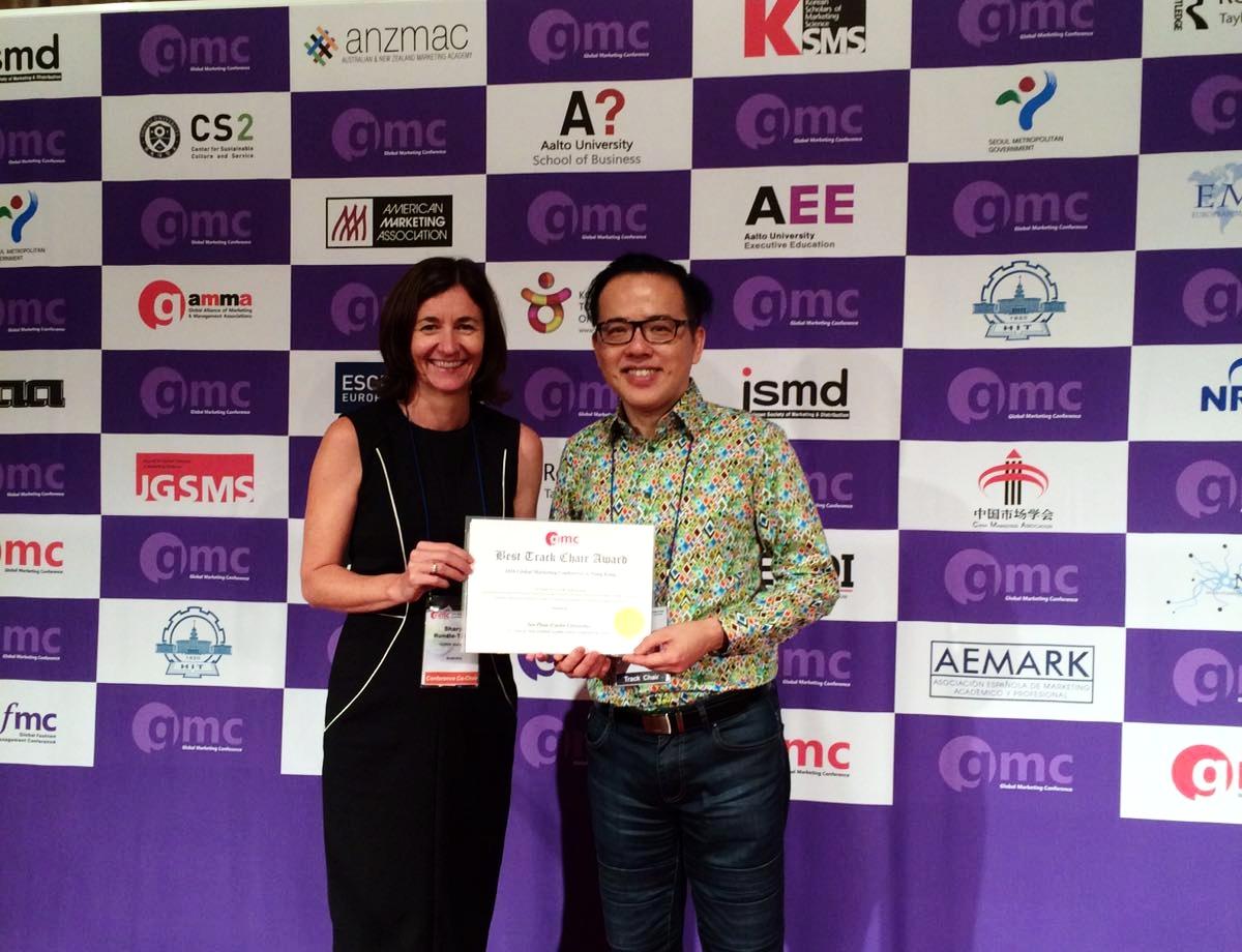 Prof. Ian Phau wins 'Best Track Chair' Award in Hong Kong