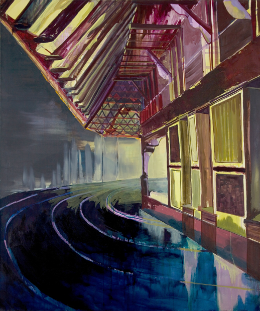 Racetrack III (Nighthouse), 2006, 155 x 130 cm, oil on canvas