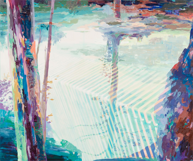 Down the Falls, 2011, 130 x 155 cm, oil on canvas