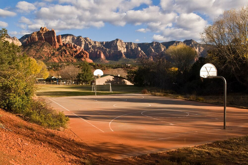 Public school playground, Sedona, Arizona. 2009. Photography by Bill Bamberger.