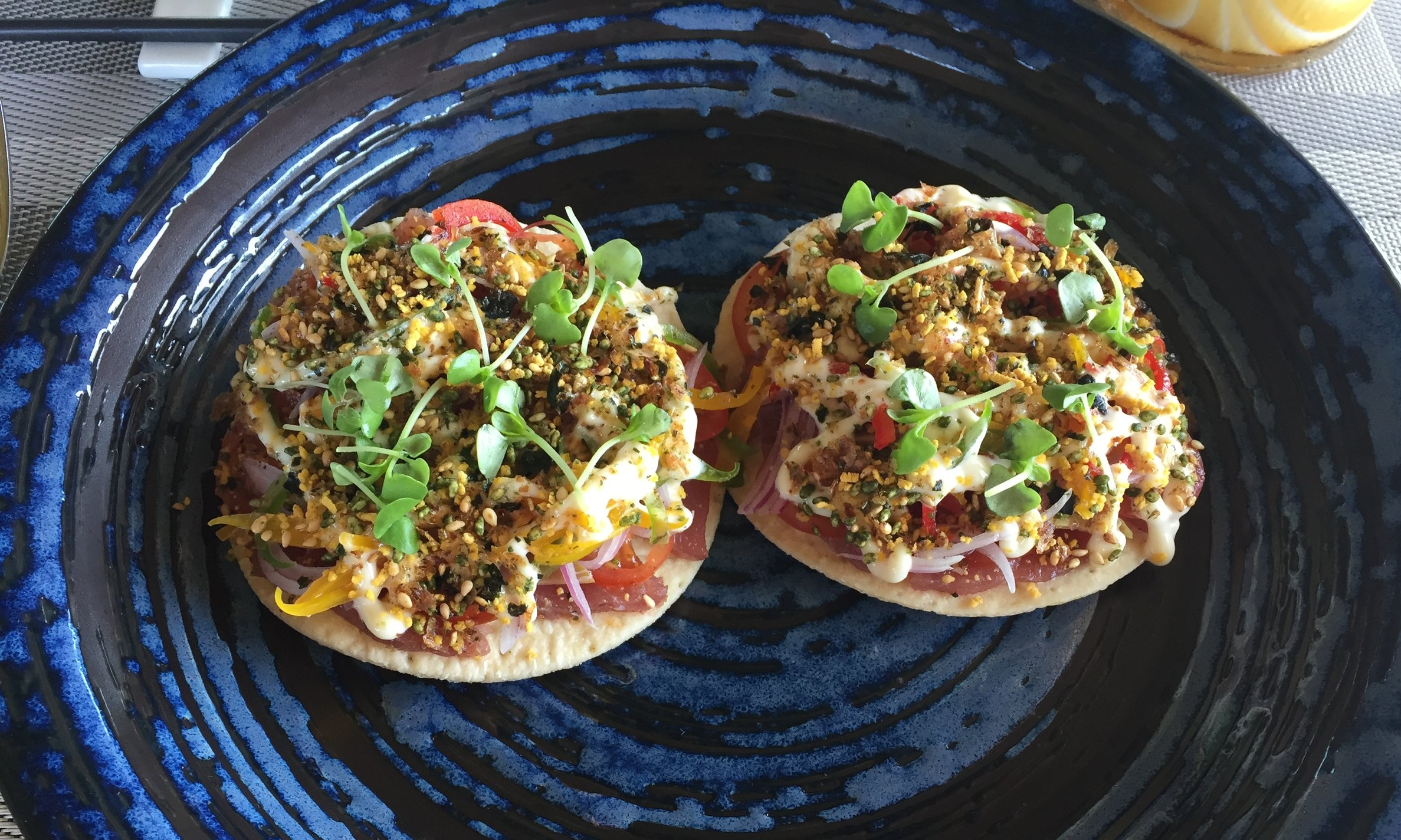 Raw Tuna Pizza served at RAW Restaurant