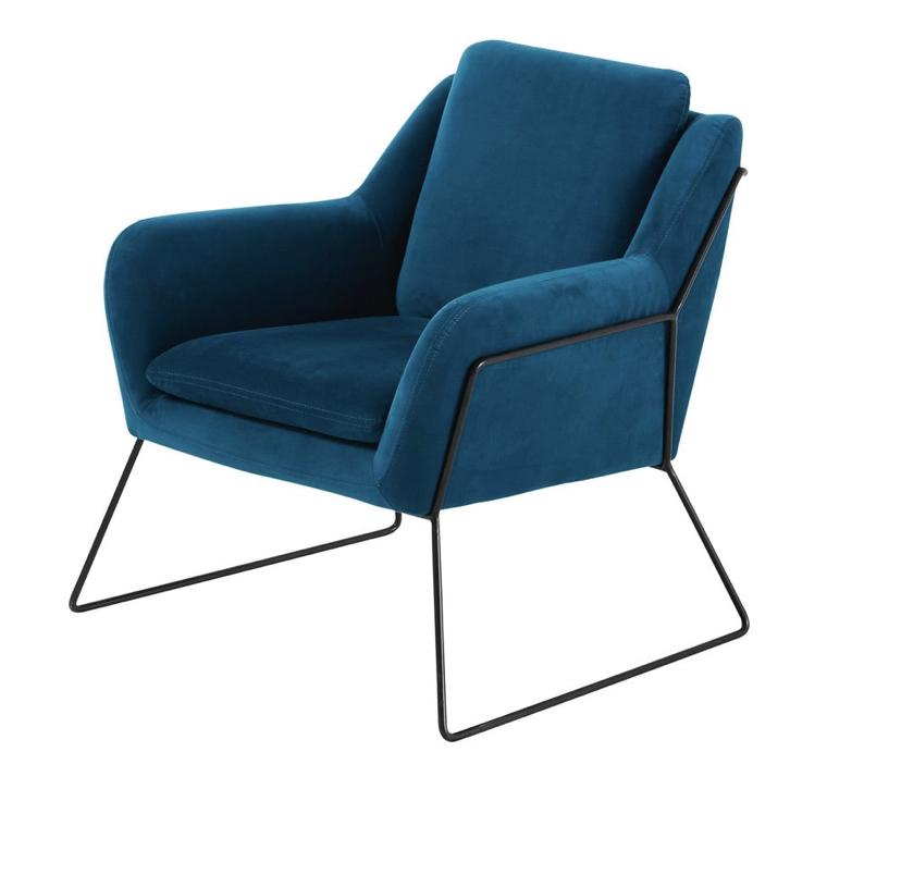 Blue Velvet Armchair £376.50