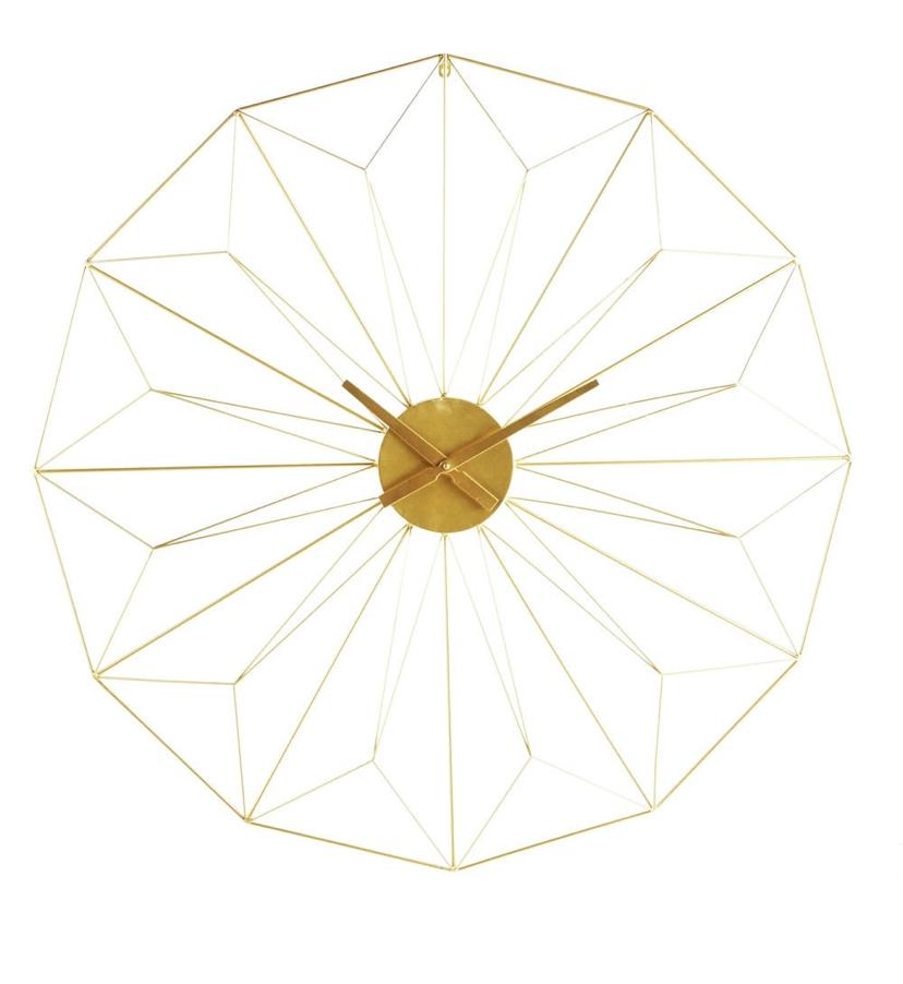 Gold Metal Clock £59.99