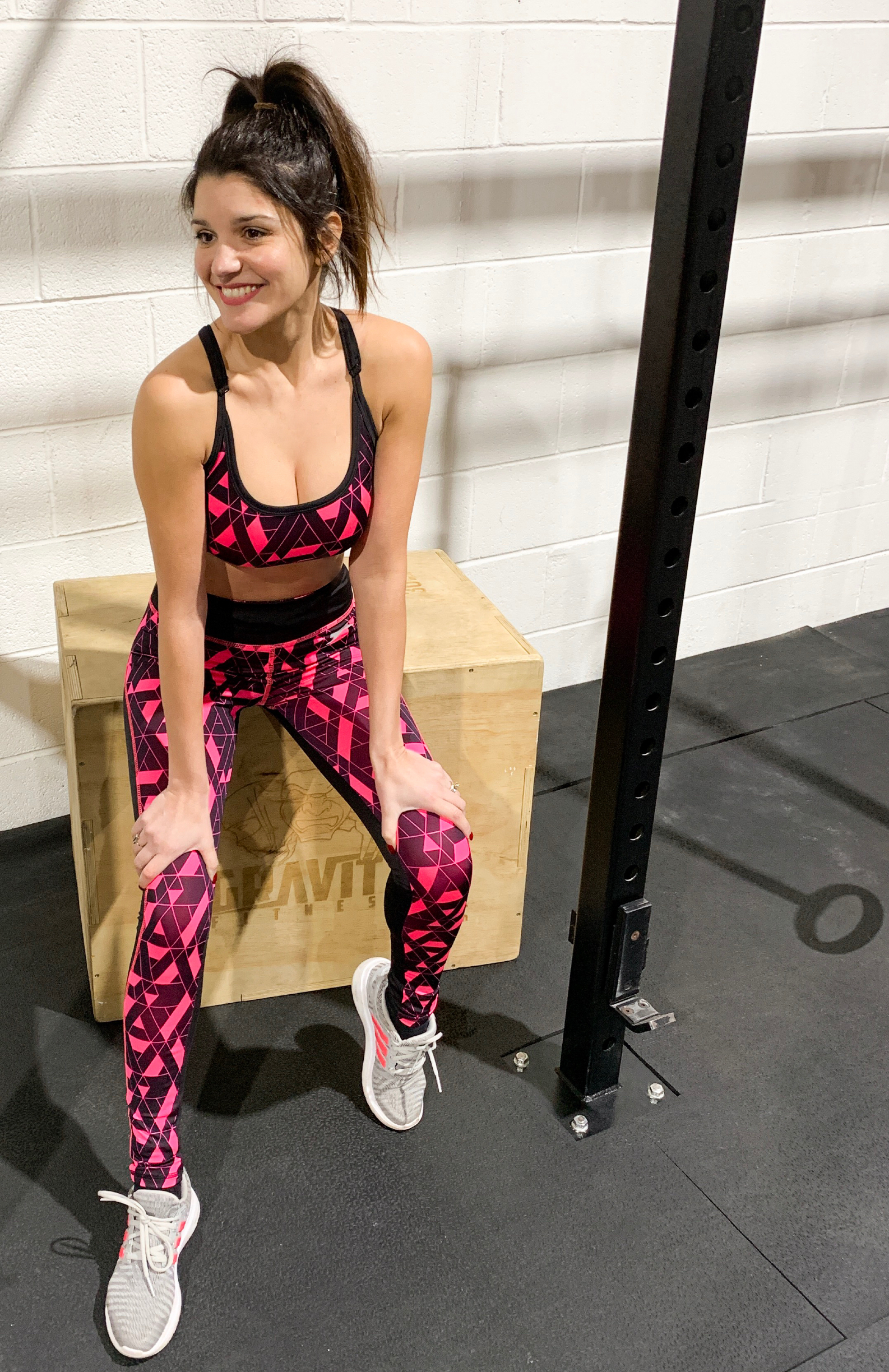 The Slazenger Geo Print Set. Sports bra £10, Leggings £11
